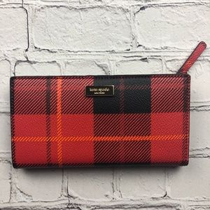 Kate Spade Brightwater Drive Stacy wallet plaid